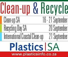 For the past 17 years, Plastics National Days In September, September 2013, Clean Up Day, Plastic Industry, Plastic Packaging, Coastal, Recycling, Friday, Earth