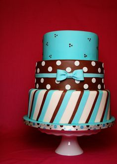 brown teal cake cake decorating community cakes we bake Cute Cakes, Pretty Cakes, Beautiful Cakes, Amazing Cakes, Fab Cakes, Brown Wedding Cakes, Wedding Cakes With Cupcakes, Baby Boy Cakes, Baby Shower Cakes