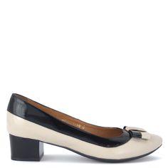 Bioeco női cipő   Fekete-bézs lakk kis sarkú női cipő http://chix.hu