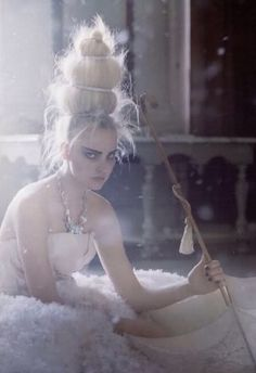 lesliaisonsdemarieantoinette: LES LIAISONS DE MARIE ANTOINETTE | THE SNOW QUEEN | CAROLINE TRENTINI BY TIM WALKER FOR VOGUE UK MARCH 2009