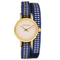 Часы женские наручные Tokyobay Obi, цвет: синий. T233-BL