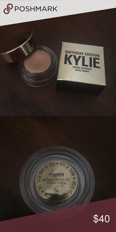 Kylie Birthday Edition Creme shadow in Copper 100% authentic. Never used. Didnt need it after all Kylie Cosmetics Makeup Eyeshadow