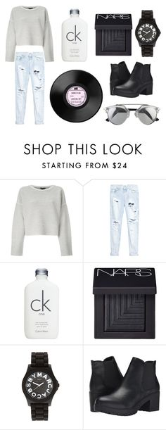 """// simplistic //"" by ashlleee ❤ liked on Polyvore featuring Theory, One Teaspoon, Calvin Klein, NARS Cosmetics, Marc by Marc Jacobs and Steve Madden"
