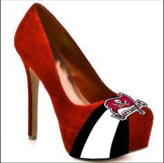 Tampa Bay Buccaneer heels - Yes pleaseee!!!