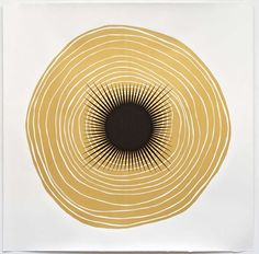 Tree Rings for Judith Pancake (Gold) 1 | From a unique collection of paintings at https://www.1stdibs.com/art/paintings/