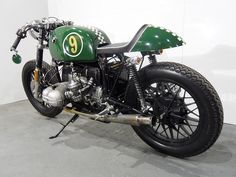 Beautiful R100 cafe racer built by Kev Hill of Kevils Speed Shop.