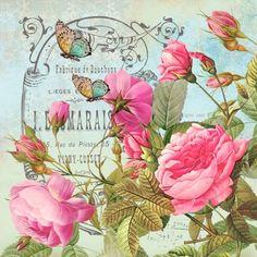 Vintage Flowers Hand & Bath Towel by Juliana Rw - Hand Towel Decoupage Art, Decoupage Vintage, Rose Design, Botanical Illustration, Flower Tattoos, Vintage Flowers, Altered Art, Metal Art, Cute Art