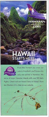 Hawaiian Airlines Pocket Map Series - Hawaii