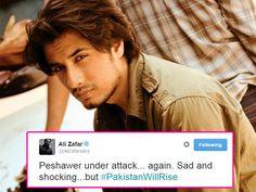SHOCKING! Peshawar under attack again; Ali Zafar tweets about the same  #Peshawar  #AliZafartweets