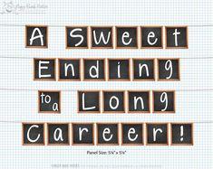 Party Decoration   Teacher Retirement: Celebrate your favorite teacher's retirement with our digital chalkboard banner!