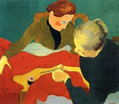 jean-édouard vuillard(1868–1940), the dressmakers, 1890. oil on canvas, 47.5 x 57.5 cm. private collection http://www.the-athenaeum.org/art/detail.php?ID=54525