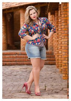 Plus size looks | Short no Verão - Looks plus size que saem do básico