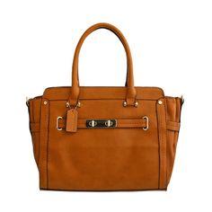 Tan Fashion Satchel Handbag