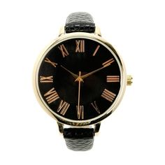 Black Golden Skinny Watch ($16) ❤ liked on Polyvore featuring jewelry, watches, montres, black watches, black wrist watch, black jet jewelry, golden watches and kohl jewelry