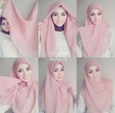 How to wear hijab pashmina Ideas for 2019 Tutorial Hijab Segi 4, Square Hijab Tutorial, Simple Hijab Tutorial, Hijab Style Tutorial, Hijab Casual, Hijab Outfit, Hijab Chic, Hijab Dress, Dress Casual