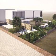 Gate Designs Modern, Narrow House Designs, Modern House Design, Modern Backyard, Modern Landscaping, House Outside Design, Chalet Design, House Landscape, Home Room Design