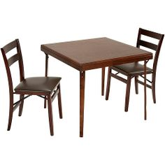 Better Homes and Gardens 3-Piece Wood Folding Dining Set, Mahogany: Furniture : Walmart.com