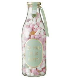 bocal XL de bonbons Soft Candy, Fiji Water Bottle, You Make Me, Perfume Bottles, Snacks, Girly, Canning Jars, Bottle, Gift Ideas