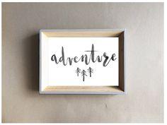 Adventure print | Nursery Home A4 8x10 7x5 Wall Art Print Kids Room Black and White Monochrome Woodland Scandi by littlempapergoods on Etsy https://www.etsy.com/uk/listing/477333085/adventure-print-nursery-home-a4-8x10-7x5