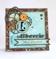 18th Birthday Cards, Masculine Cards, Retro, Scrapbooking, How To Make, Handmade, Paper Envelopes, Hand Made, Scrapbook