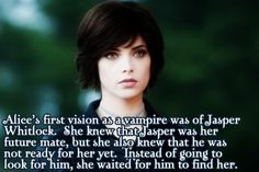 Alice is the best. They should definitely do one of the short films on her for that new twilight thing.