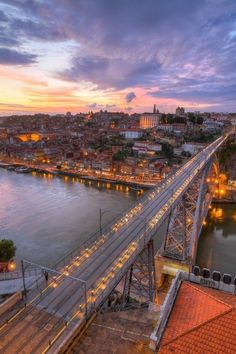 I walked on the top of this bridge in Porto!