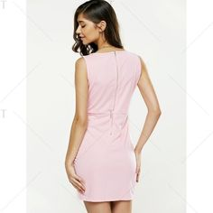 Plunging Neck Strappy Pure Color Dress ($16) ❤ liked on Polyvore featuring dresses, strap dress, strappy dress, white plunge neck dress, plunging neckline dress and plunge-neck dresses