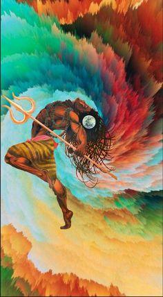 Lord Shiva as Nataraj in creative art painting Rudra Shiva, Mahakal Shiva, Aghori Shiva, Shiva Statue, Art Painting Images, Indian Art Paintings, Lord Shiva Hd Wallpaper, Lord Shiva Painting, Ganesha Painting