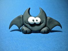 polymer clay halloween crafts | Polymer clay bat