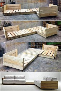 Crate and Pallet DIY Pallet furniture DIY Möbel Most Creative Simple DIY Wooden Pallet Furniture Project Ideas Wooden Pallet Furniture, Wooden Pallets, Wooden Diy, Furniture Ideas, Crate Furniture, Furniture Stores, Wooden Pallet Ideas, Diy Furniture Couch, Wood Sofa