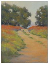 Original Pastel Landscape Painting by Linda Mutti from Antiquarian Home at rubylane.com