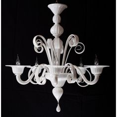 Murano's #chandelier worked exclusively by hand in #Murano #glass from #Venice. Price with 5 lights 484,50 euro - 674 $.