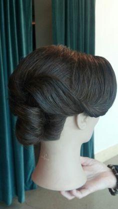 My retro updo. Love u mom u are amazing at doing hair!!