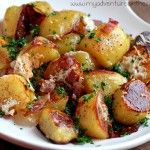 Oven Roasted Potatoes with parmesan cheese and bacon