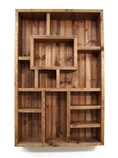 Shadowbox, Handmade Wood Wall Art Shadow Box Display Shelves