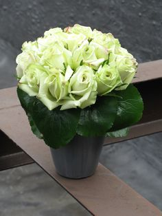 Liven up the office with a fresh cut flower arrangement.