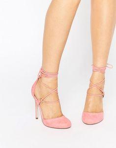 65d141e872d ASOS PERSEVERE Lace Up High Heels at asos.com