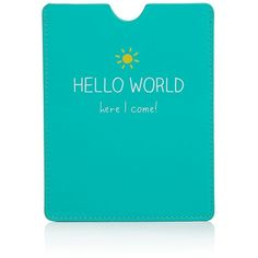 Happy Jackson Hello World Passport Case (£8.14) ❤ liked on Polyvore featuring bags, luggage and green
