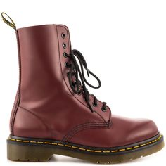 1490 - Cherry Red Smooth Dr Martens $129.99