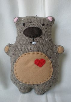 Smaller Happy Groundhog Plush cutest critter by TheHappyGroundhog, $32.00