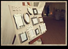 Table plan board - use three gold picture frames