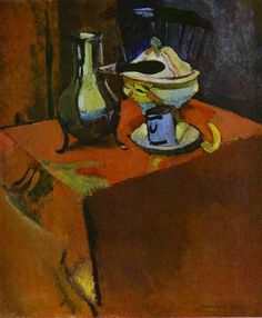 """""""Dishes on a Table"""", 1900 / Henri Matisse (1869-1954) / Hermitage, St. Petersburg, Russia"""