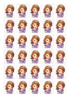 free printable sofia the first Princess Sofia Cupcakes, Sofia Cake, Princess Sofia Birthday, Princess Cupcake Toppers, Cupcake Toppers Free, Princess Sofia The First, Sophia The First Cupcakes, Sofia The First Birthday Cake, First Birthday Parties