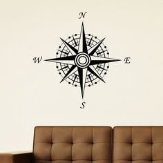 Compass Vinyl Wall Art Decal Sticker