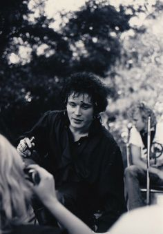 Adam Ant with the fans