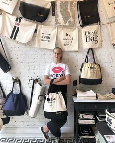 The World of Bag-all is full of totes 🖤 & monograms. Come check it out for yourself at 219 Mott Street in Nolita New York Custom Tote Bags, Garment Bags, Cute Packaging, Linen Bag, Jewelry For Her, Fabric Bags, Bag Organization, Store Design, Pattern Fashion