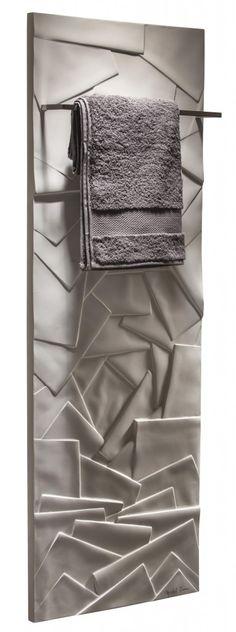 The Edo : a towel warmer a design inspired from the Japanese Zen spirit (PSCBath) Bath Tiles, Bath Rugs, Towel Heater, Decorative Radiators, Dream Master Bedroom, Master Bedrooms, Bathroom Radiators, Vertical Radiators, Wet Water