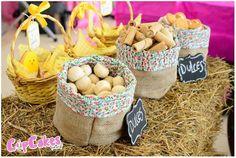 Baby Chick themed birthday party via Kara's Party Ideas KarasPartyIdeas.com | Cake, cupcakes, printables, invitation, and more! #springparty...