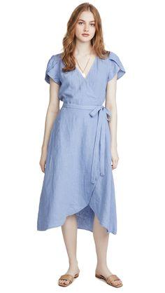 Velvet by Graham & Spencer Women's Alena Satin Viscose Wrap Dress Easy Wrap, Velvet Fashion, Office Dresses, Winter Looks, Flutter Sleeve, Night Out, Wrap Dress, Feminine, Clothes