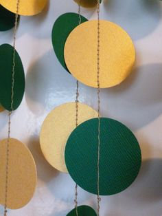 Green and Gold Shimmer Metallic Paper // So many possibilities for a Baylor-themed celebration!